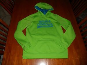 Under Armour girls hoodie size Y XL youth extra large MINT cond green loose fit
