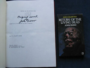 ORIGINAL MANUSCRIPT FOR - RETURN OF THE LIVING DEAD - SIGNED by JOHN RUSSO