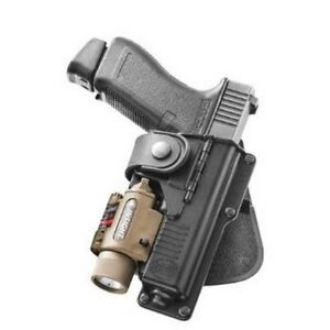 Fobus RBT17 Tactical Paddle Holster Black RH For Glock 17/22/31 Laser/Light