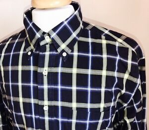 Brooks Brothers Multi Color Plaid Button Down Oxford Sport Shirt Size Large LS