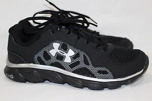 UNDER ARMOUR GRADE SCHOOL UA MICRO G ASSERT IV RUNNING YOUTH BOYS SIZE 5 BLACK