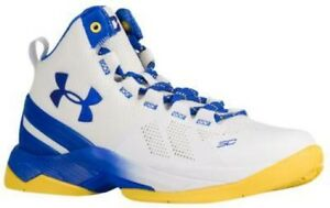 Under Armour Curry 2 - Boys' Grade School WhiteTeam RoyalTeam Royal 817-102