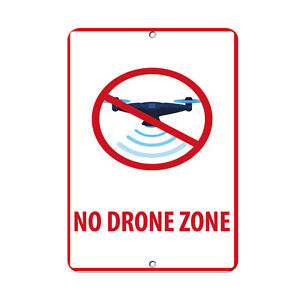 No Drone Zone Federal Aviation Administration Aluminum METAL Sign