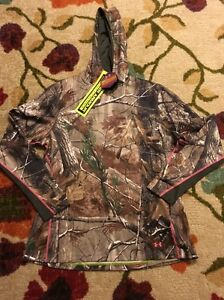 NWT Under armour cold gear infrared real tree camo scent control hoodie XXL