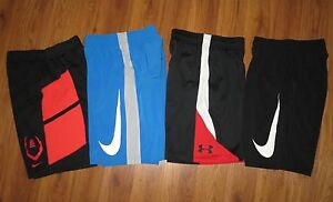 Lot 4 Boys NIKE Dri-Fit Woven Fly NWT Under Armour Loose Athletic Shorts Small