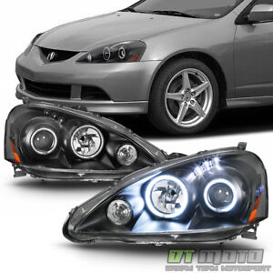 2005 2006 Acura RSX DC5 LED Dual Halo Projector Headlights Headlamps LeftRight $198.99