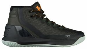 Under Armour Curry 3 - Boys' Grade School Artillery GreenBlack 4061-357