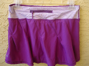 Lululemon Skort TAKE FLIGHT Skirt with Shorts Zip Pocket Yoga Run Womens 4