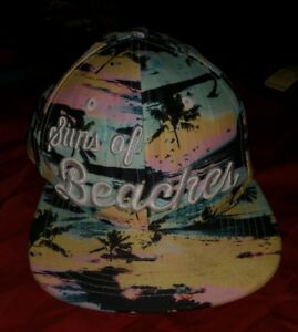 Empyre Supply Suns of Beaches Tropical Paradise Snapback Hat Adjustable SONS HTF