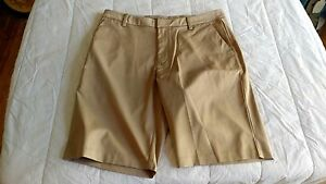 1 NWT ASHWORTH MEN'S GOLF SHORTS SIZE: 34 COLOR: KHAKI   *B74**