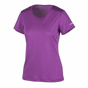 CMP Dress Shirt Sports Shirt T-Shirt purple Mesh UV protection Dryfunction