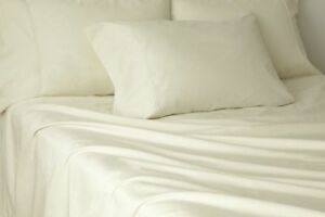 NorthCrest Home Anique White 4 Pc Sheet Set Full Bed Sheets Ivory Bedding