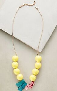 NEW Anthropologie Yellow Guanajuato Statement Necklace