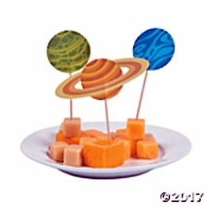 25 Space Food  Cupcake Picks  Party Celebration Decoration