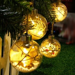 LED Clear Fantasy Christmas Tree Fence Hanging Ball Light Party Wedding Decor