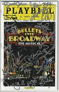 WOODY ALLEN BULLETS OVER BROADWAY  PLAYBILL Signed  Entire Cast Vincent Pastore