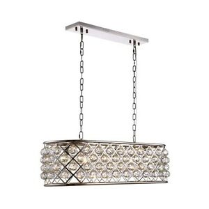 1216 Madison Collection Pendant Lamp L-40In W-13In H-15In Lt-6 Polished Nickel