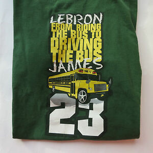 RARE Lebron James NIKE TAG High School St. Vincent St. Mary T-shirt CAVS #23 HTF