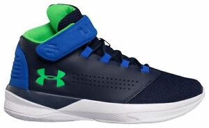 Under Armour Get B Zee Boys PS Midnight NavyUltra BlueLime Twist 9029-410