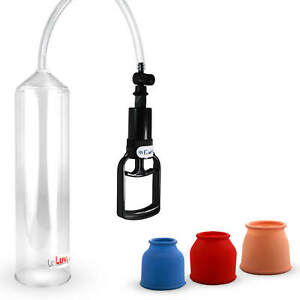 LeLuv Penis Pump EasyOp T-Grip with 3 Sizes of Cylinder Seals