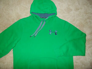 UNDER ARMOUR STORM GREEN HOODED SWEATSHIRT MENS XL EXCELLENT CONDITION