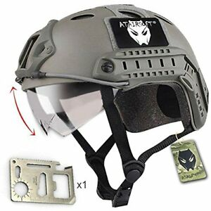 ATAIRSOFT PJ Type Tactical Fast Helmet with Visor Goggles Low Price Version FG +