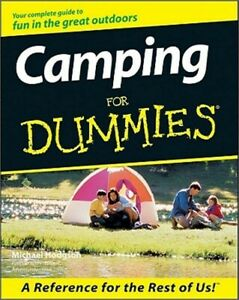 Camping for Dummies Paperback or Softback