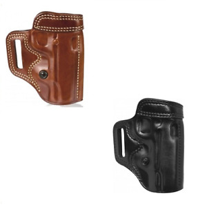 Galco Avenger Open Top Neutral Cant Leather Slide Holster For Belts Up to 1.75