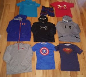 UNDER ARMOUR HUGE LOT 9 Boys Large Assorted Storm hoodies Shirts Super hero YLG