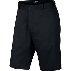 nike mens dri-fit flat front golf shorts zip front black discounted sale sizes