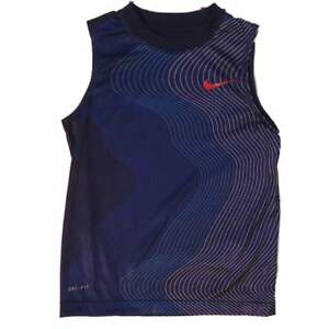 Nike Boys Blue Dri-Fit Muscle Shirt Active Tank Top