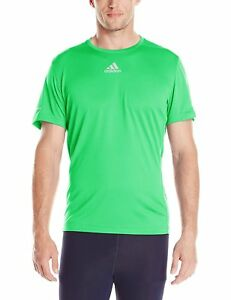 ADIDAS MENS SEQUENCIAL FLASH LIME GREEN RUNNING SHIRT BRAND NEW FREE SHIPPING $12.99