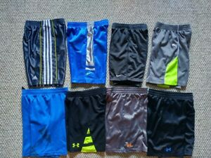 Under Armour Nike Adidas Puma Athletic Shorts (Lot of 8) Size 6 Kids