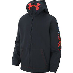 under armour ua boys youth warrior french terry ninja style hoodie xs x small