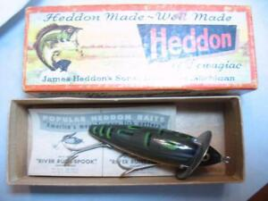 Heddon 210 Surface old wood fishing lure new in box 210 BF