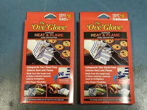 SET OF 2 Ove Glove Oven Mitt Heavy Duty Silicone Grip Hot Kitchen Microwave NEW