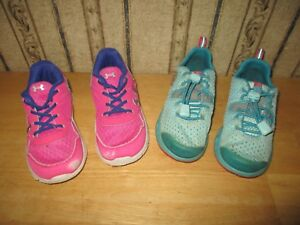 Lot of 2 TODDLER  INFANT girl's UNDER ARMOUR & COLUMBIA athletic shoes - sz 10