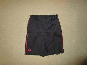 UNDER ARMOUR TODDLER BOYS SHORTS BLACK RED SIZE 3T USED POLYESTER
