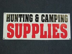 HUNTING amp; CAMPING SUPPLIES BANNER Sign High Quality NEW 4 Hunt Fish Boating Camp