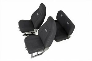 Rough Country Neoprene Seat Cover Black (fits) 1991-1995 Jeep Wrangler YJ Set