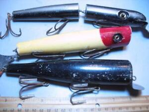 3 big wood old surf fishing lures