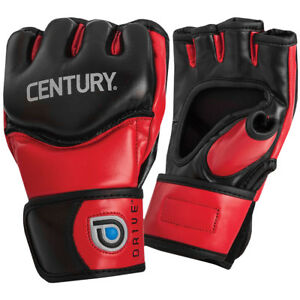 Century Drive Open Palm MMA Training Gloves - Red/Black