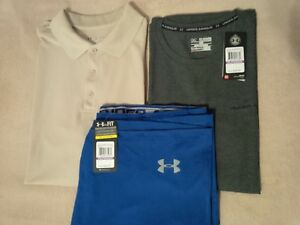 UNDER ARMOUR Men's Loose Polo Tee and Shorts (XXL - Lot of 3)