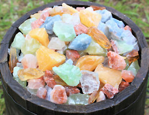 1 2 lb Bulk Lot Mixed Assorted Calcite Rough Raw Crystal Gemstone Mineral 8 oz