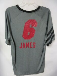 Miami Heat Mens Large James #6 Screened Dryfit Jersey Shirt BB 1352