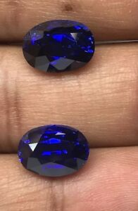 Rare 12.03 Ct GRS Certified Untreated Natural Royal Blue Sapphire Loose Pair