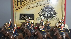 TOY SOLDIER BAND NEW HOLLOW CAST BRITAINS54MM12pc #40191 MTD.9TH.LANCERSM.B.
