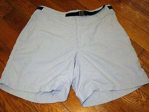 COLUMBIA GRT  WOMENS LARGE BELTED KHAKIS  HIKING  LIGHT WEIGHT RUNNING  SHORTS