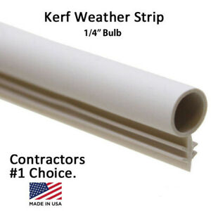 1 4quot; Window Kerf Slot Sash Weatherstrip Seal Bulb Bubble WhiteTanBrownBlack
