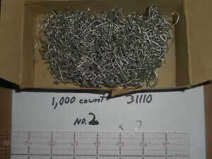 1000 MUSTAD #2 JIG HOOK FISHING FLY MOLD CRAPPY EYED TINNED BENT SPECIAL 31110